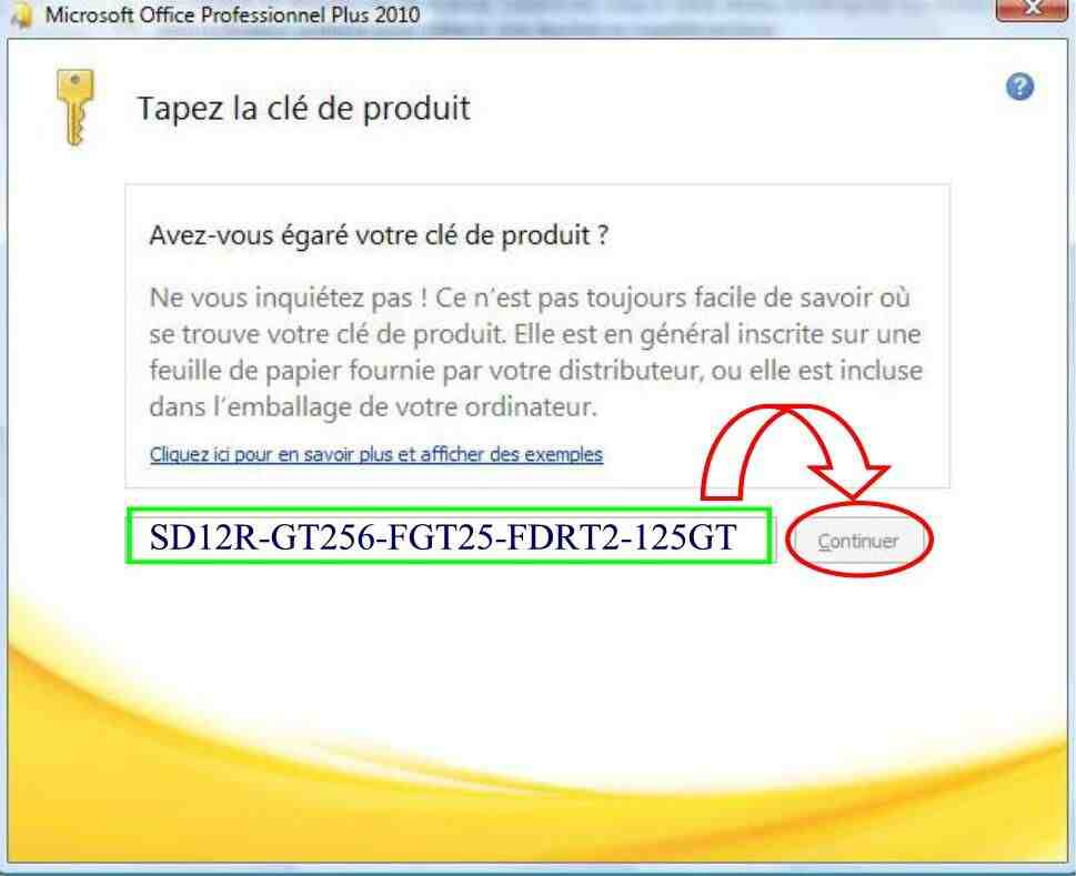 Comment activer Microsoft Office Professionnel Plus 2010?