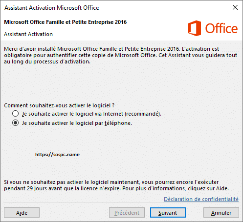 Comment activer Office 2020?