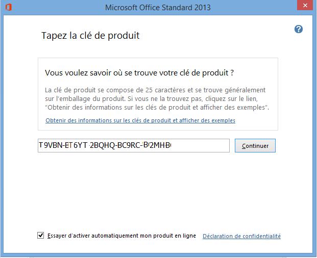 Comment activer Office sur un nouveau PC?