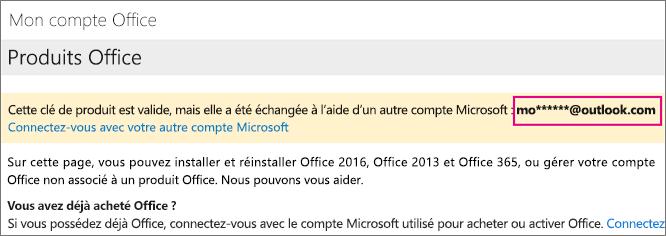 Comment activer la clé Microsoft Office 2016?