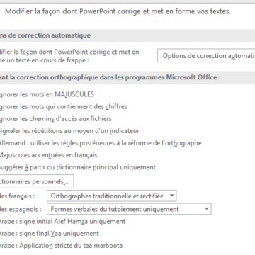 Comment activer le correcteur d'orthographe sur Office 365 ?