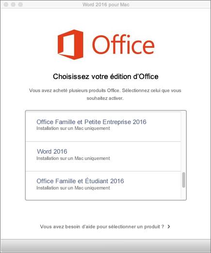 Comment changer l'activation des clés pour Microsoft Office 2016?