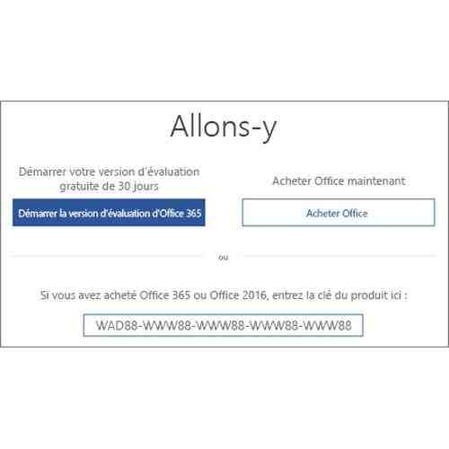 Comment obtenir un package de bureau?