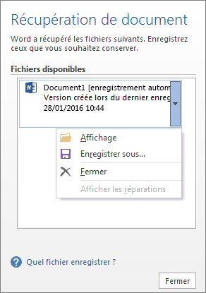 Comment passer d'un document Word à Open Office?