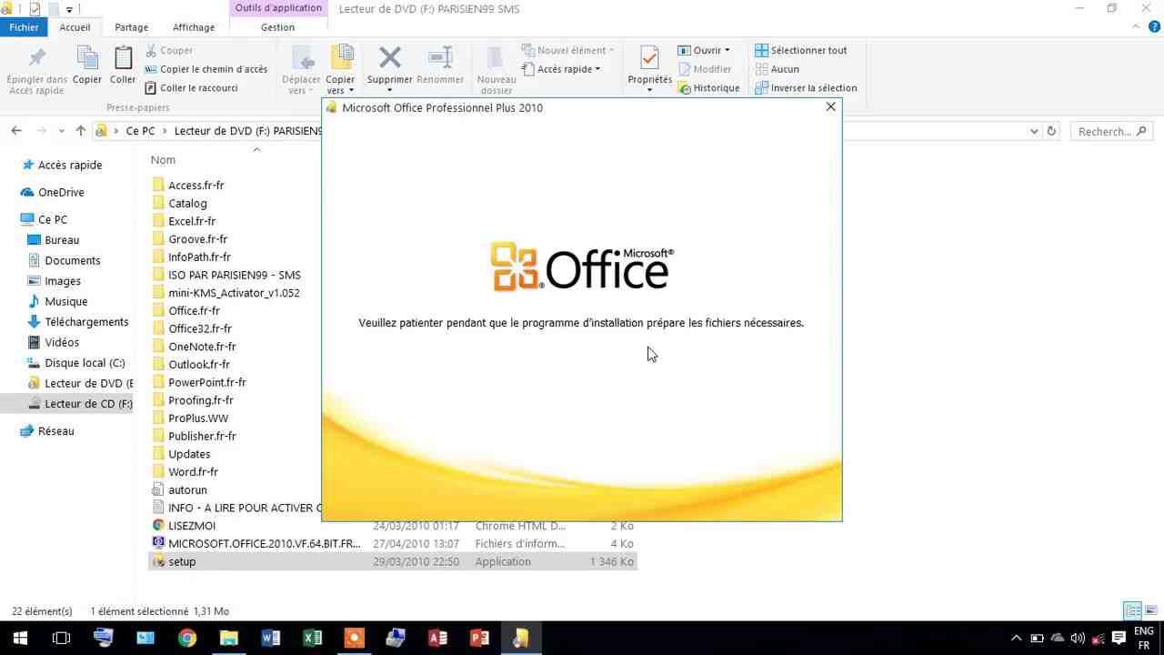 Comment réinstaller Microsoft Office 2010?