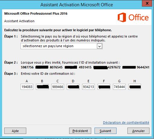 Comment saisir la clé d'activation Microsoft Office?