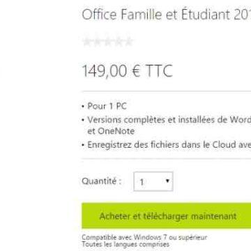 Quel Office est compatible avec Windows 7 ?