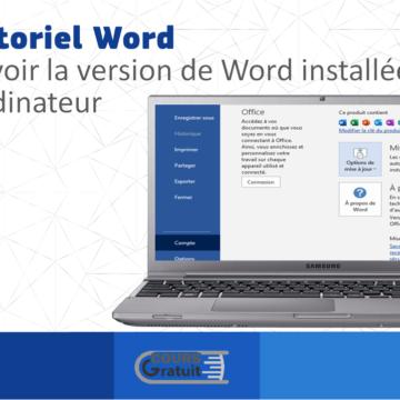 Quelle version de Word est gratuite ?