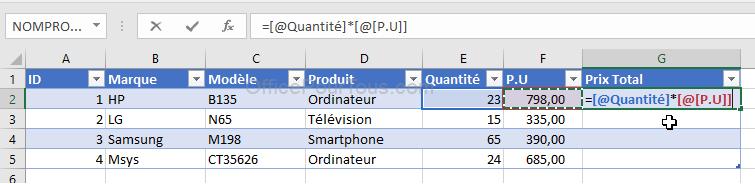 Comment faire une tableau Excel ?