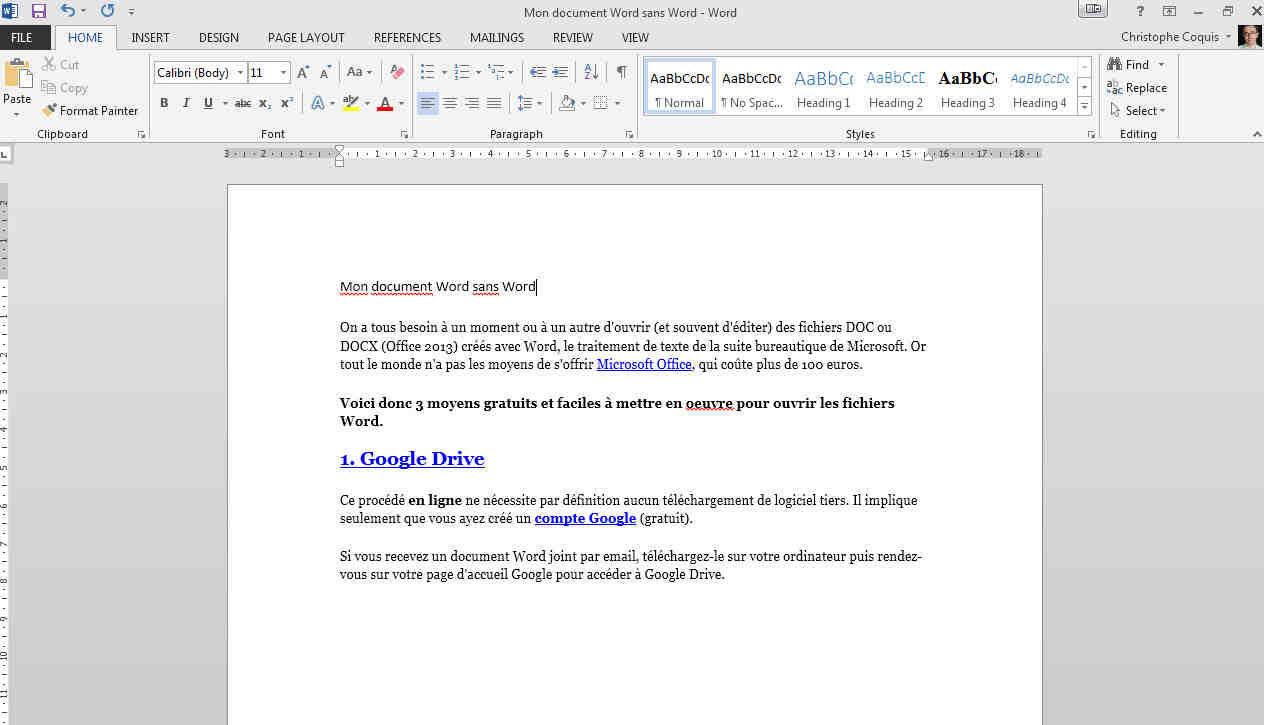 Comment ouvrir un fichier Microsoft Office?