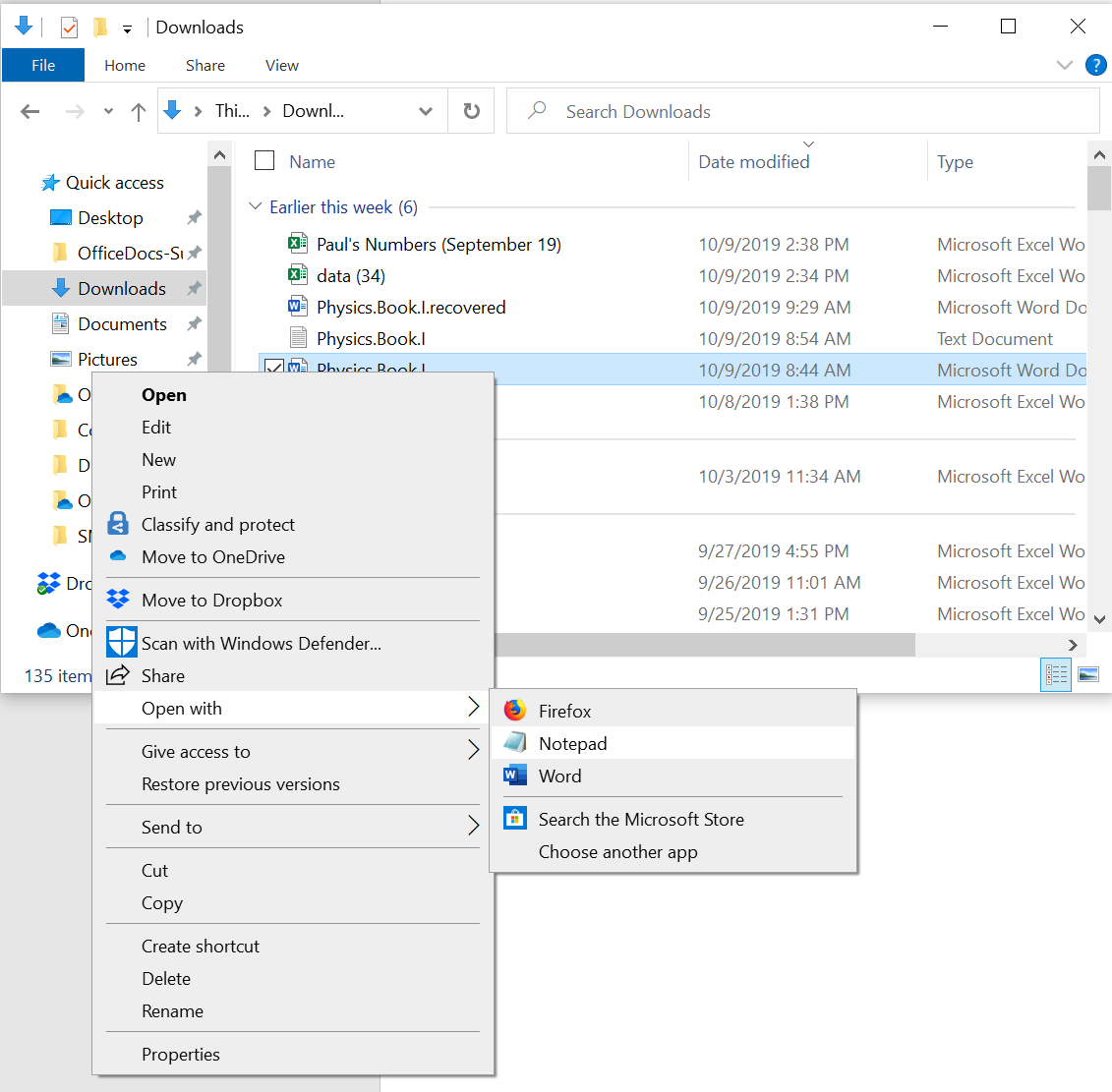 Comment passer d'un document Word à Open Office?