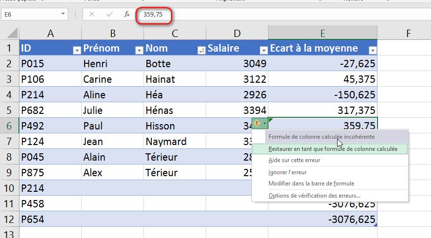 Comment remplacer dans Excel?