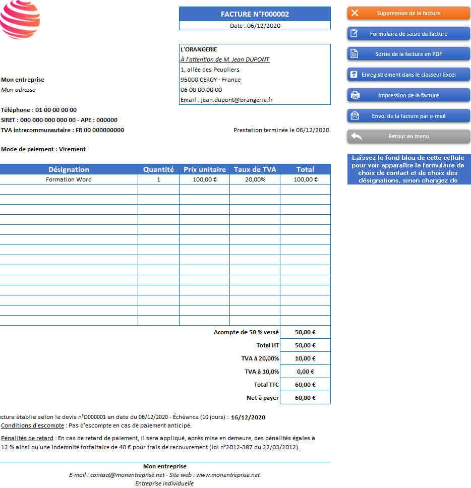 Est-ce une feuille de calcul Excel gratuite?