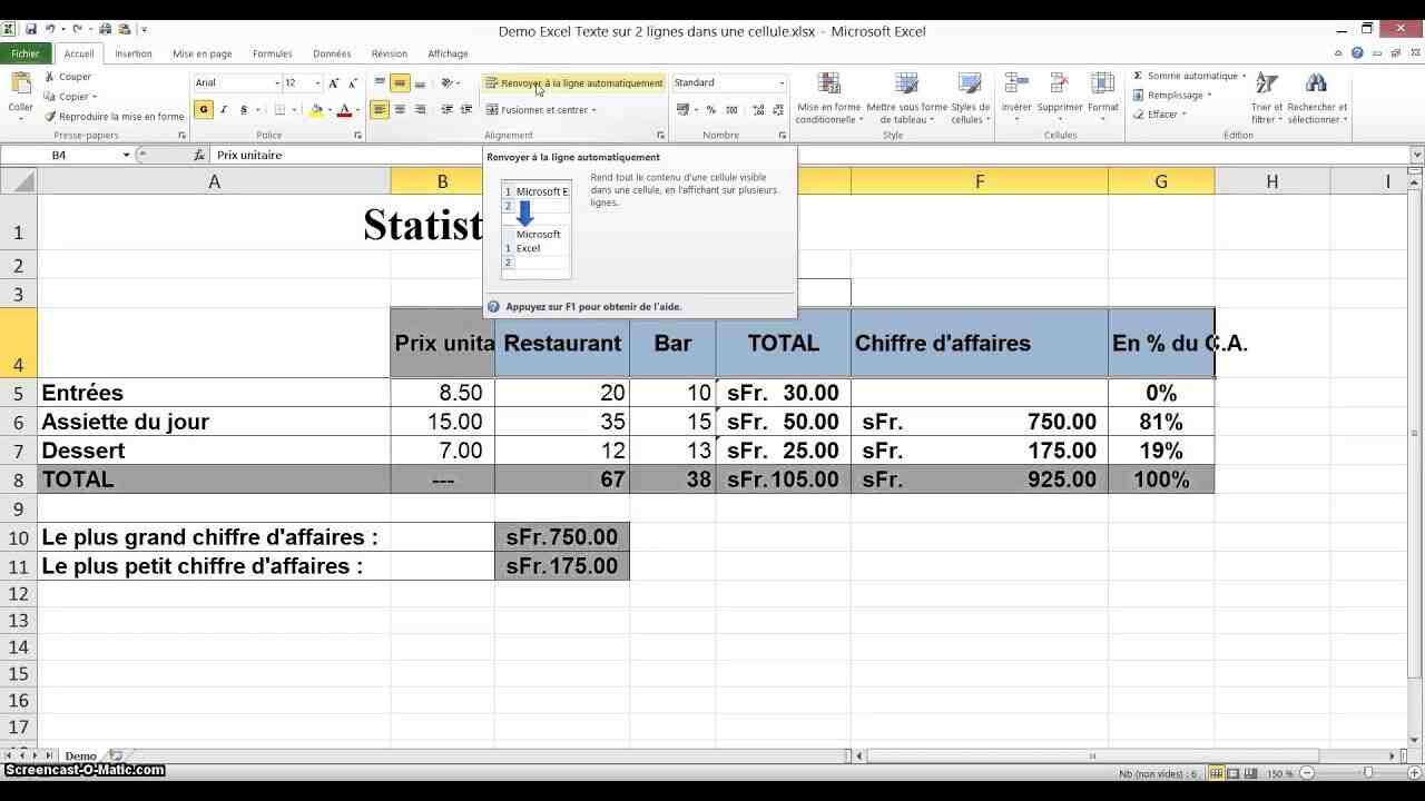 Comment afficher des lignes et des colonnes dans Excel?