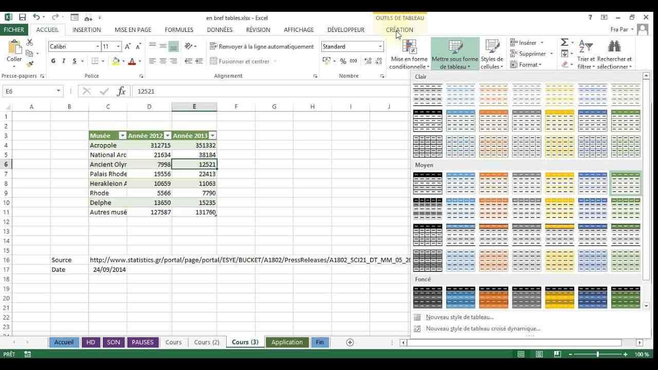 Comment apprendre rapidement Excel?
