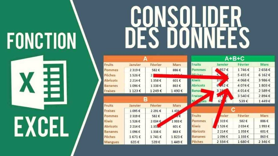 Comment consolider plusieurs feuilles Excel en une seule ?