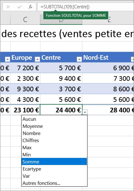 Comment créer un tableau Excel 2010?