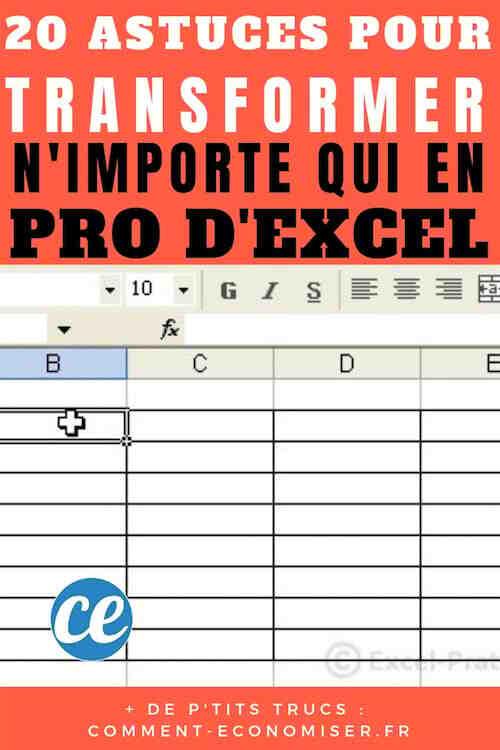 Comment créer une feuille de calcul Excel multi-données?