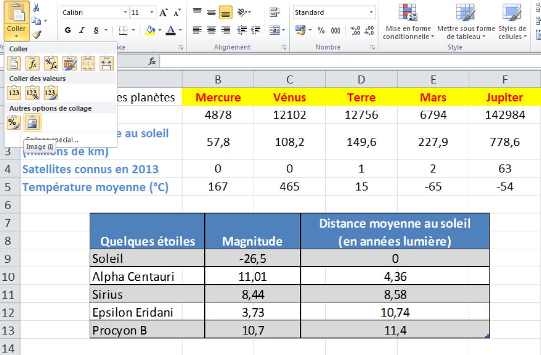 Comment créer une table heureuse dans Excel?