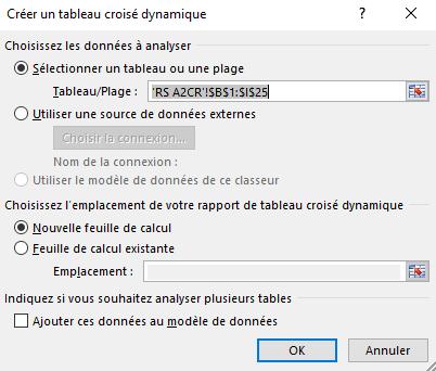 Comment croiser 3 tableaux Excel?