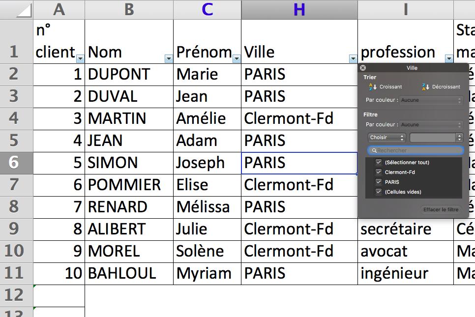 Comment enregistrer les en-têtes de colonne dans Excel?