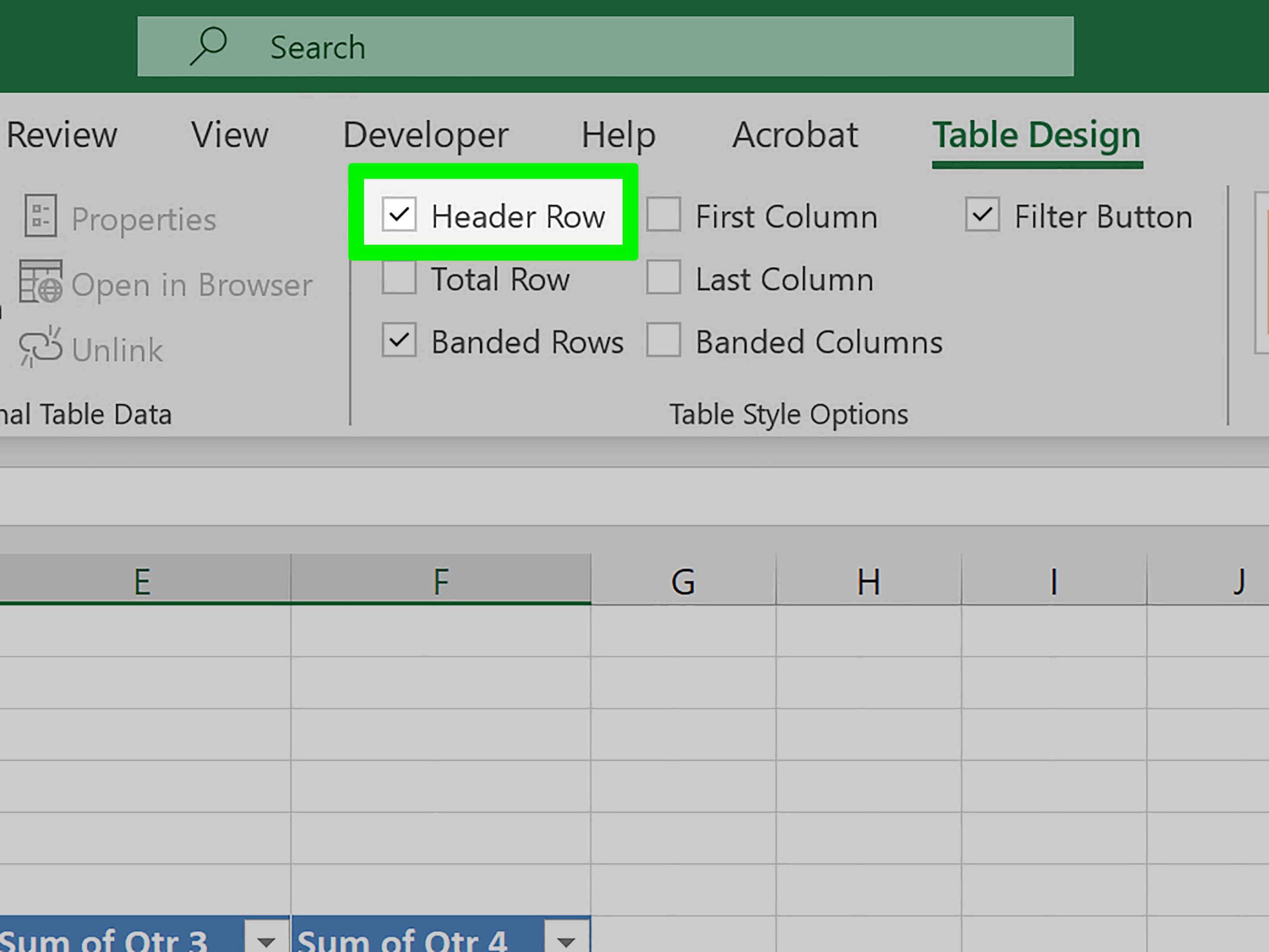 Comment faire défiler une partie d'un document Excel?