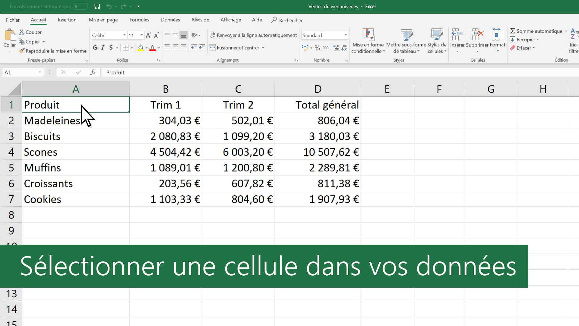 Comment faire un joli tableau dans Excel?