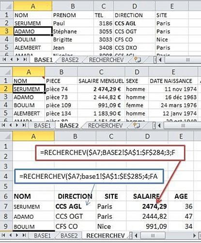 Comment fonctionne hSearch dans Excel?