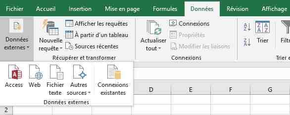 Comment importer des données dans Excel?