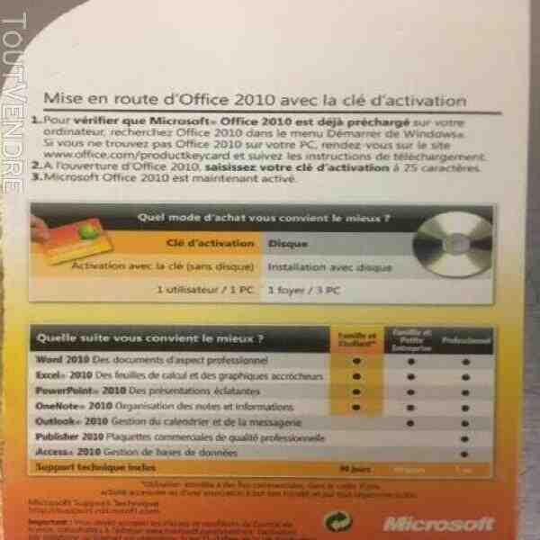 Comment installer Microsoft Office 2010 sans cd?