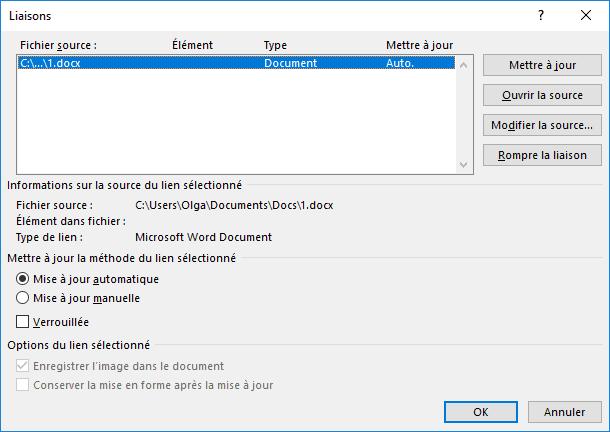 Comment pouvez-vous changer la version Word?