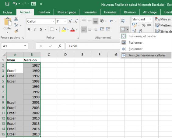 Comment regrouper plusieurs tableaux Excel?