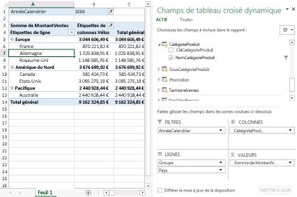 Comment regroupez-vous les feuilles dans Excel?