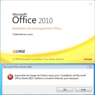 Comment réinstaller Microsoft Word Starter 2010 ?