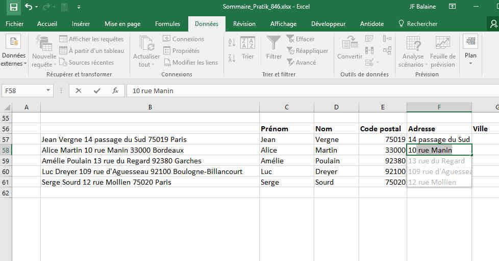 Comment utiliser une feuille de calcul Excel?
