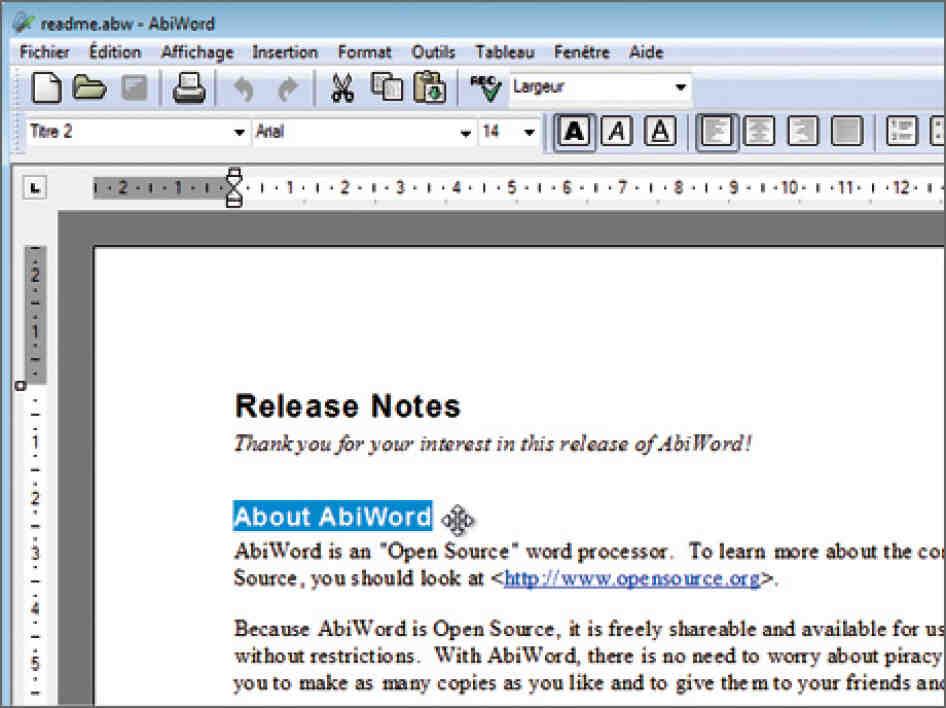 Quel logiciel de traitement de texte?