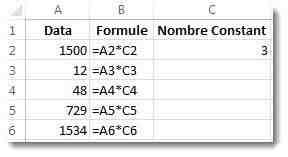Comment affecter une formule à une colonne Excel ?