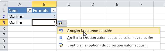 Comment appliquer une formule à une ligne entière ?
