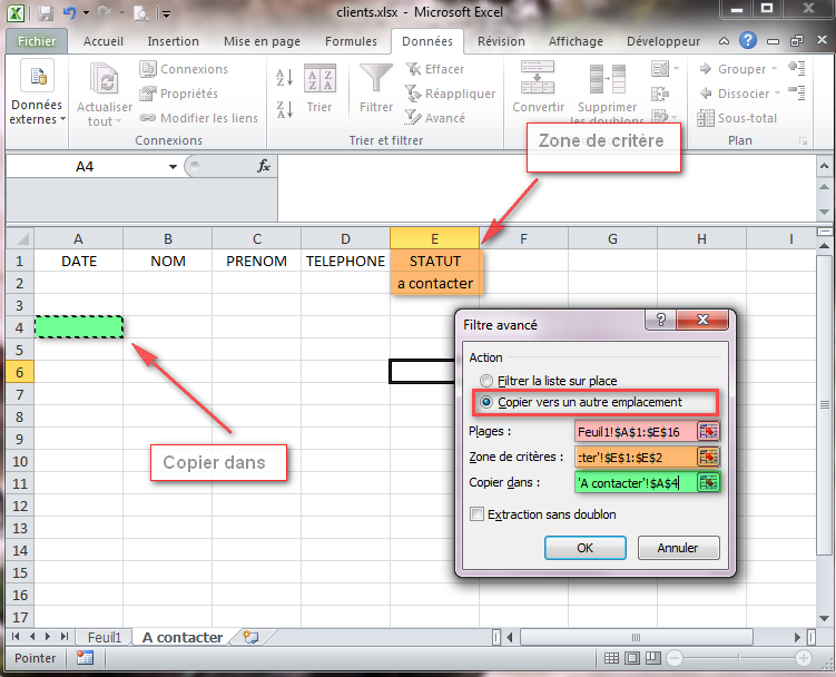 Comment copier la valeur d'une cellule Excel ?