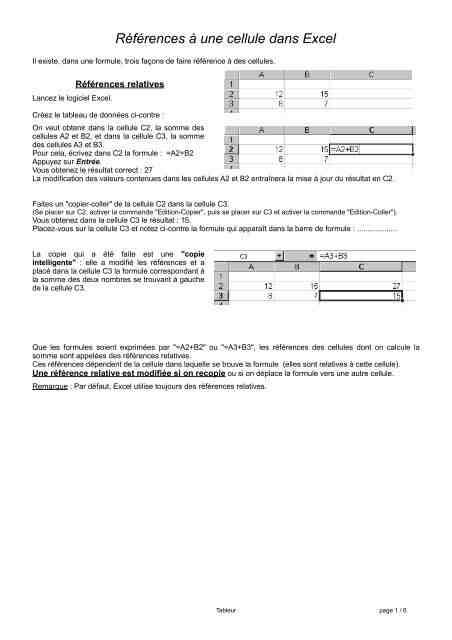 Comment copier une formule Excel sans la modifier ?