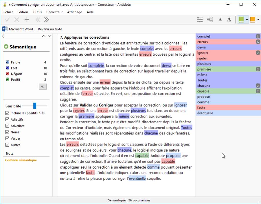 Comment faire du traitement de texte dans Word Word?