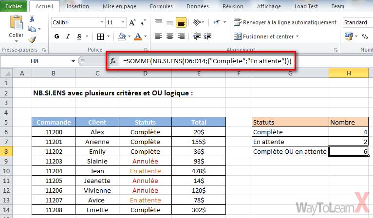 Comment mettre 2 fonctions dans une cellule Excel ?