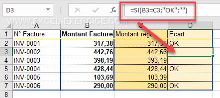 Comment rapporter une valeur dans Excel ?