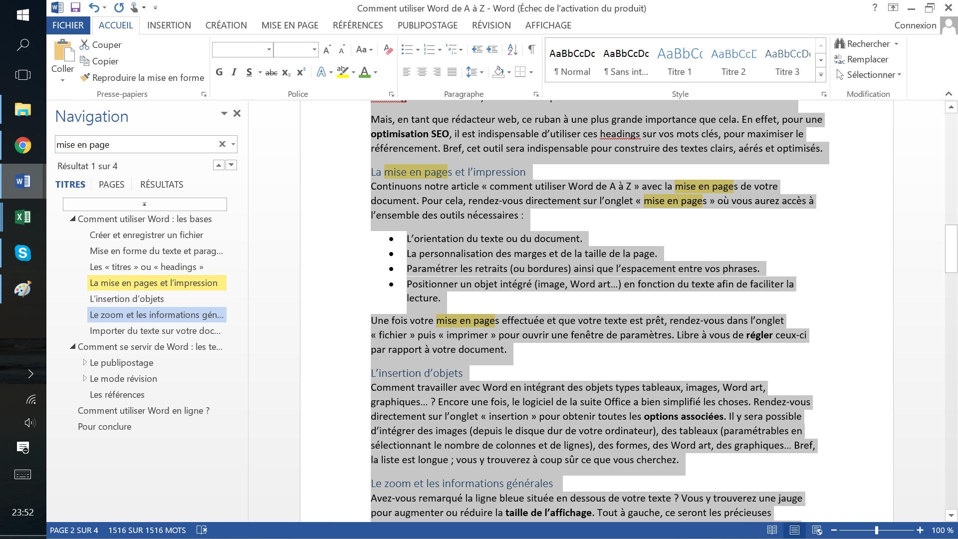 Quel logiciel pour écrire un texte ?